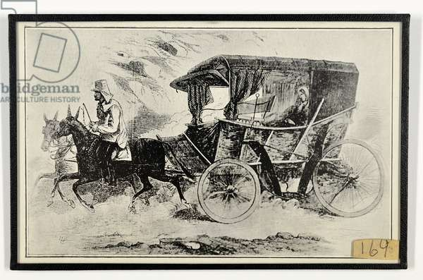 Miss Nightingale's carriage at the seat of war, from 'The Illustrated London News', 1856 (engraving)
