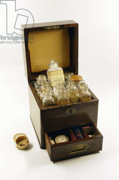 Medicine chest used by Florence Nightingale during the Crimean War, 1854-56 (wood)