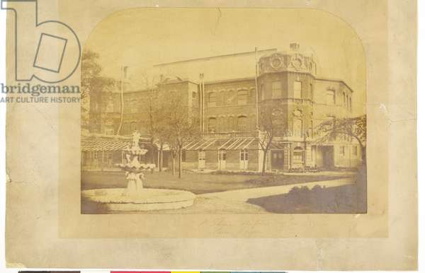 St. Thomas's Hospital Surrey Gardens (b/w photo)