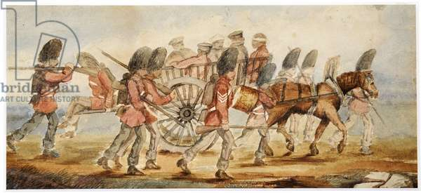 The wounded being transported from the field of Inkermann (w/c)