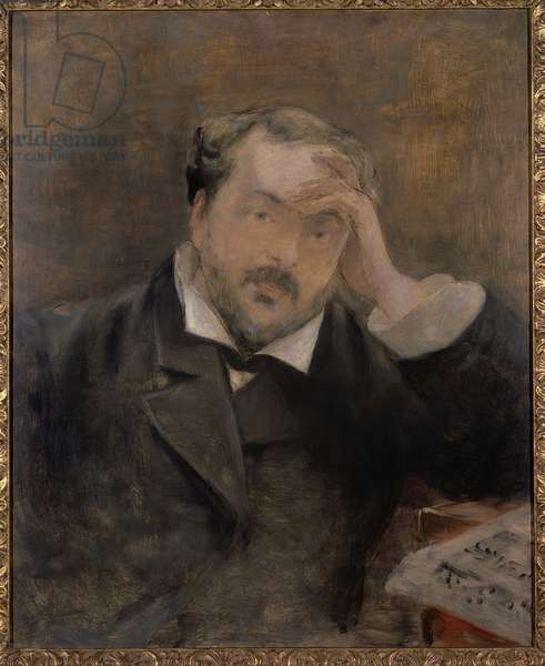 Portrait of Emmanuel Chabrier (1841-94) 1881 (oil on canvas)