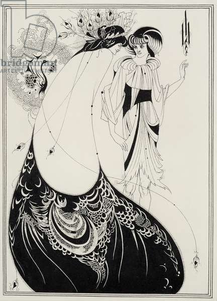 The Peacock Skirt, illustration for the English edition of `Salome' by Oscar Wilde (1854-1900) 1893 (black ink and graphite on paper)