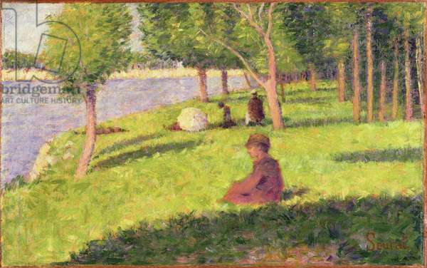 Seated Figures, Study for 'A Sunday Afternoon on the Island of La Grande Jatte', 1884-85 (oil on wood panel)