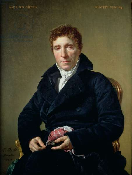 Emmanuel Joseph Sieyes (1748-1836) 1817 (oil on canvas)