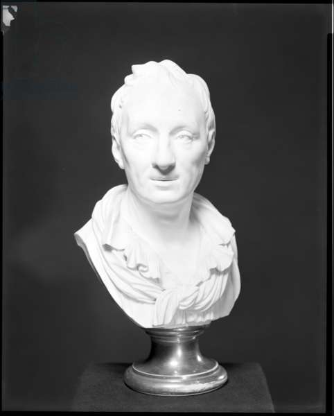 Bust of Denis Diderot, c.1768 (bisque porcelain)