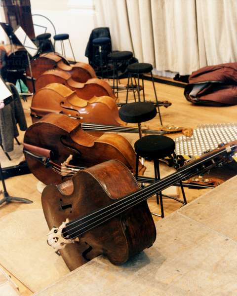 Double Basses lying on