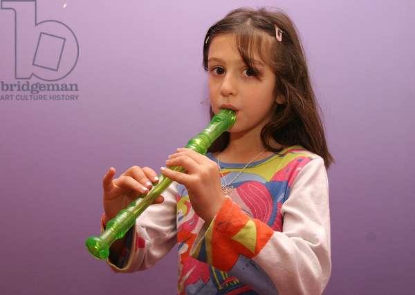 Young girl playing