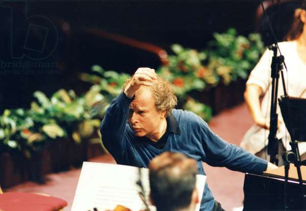 Andras Schiff conducting the