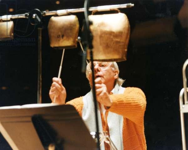 Karlheinz Stockhausen playing cow