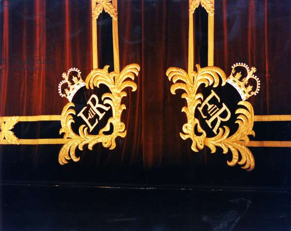 Velvet curtains at Royal