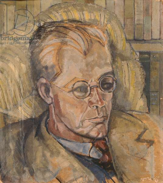 Portrait of a man, c.1906 (oil on canvas) (reverse of 236924)