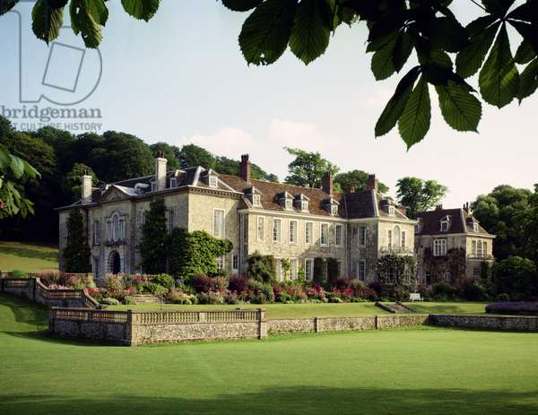 The exterior of Firle Place, Sussex, from the north-east (photo)