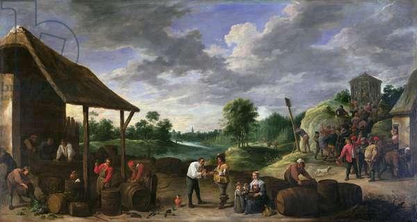 The Wine Harvest (oil on canvas)