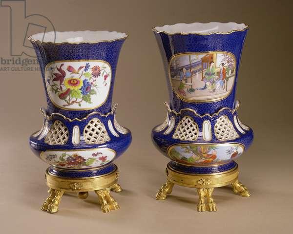 The Sevres Firle Vases, 1763 (soft-paste porcelain)