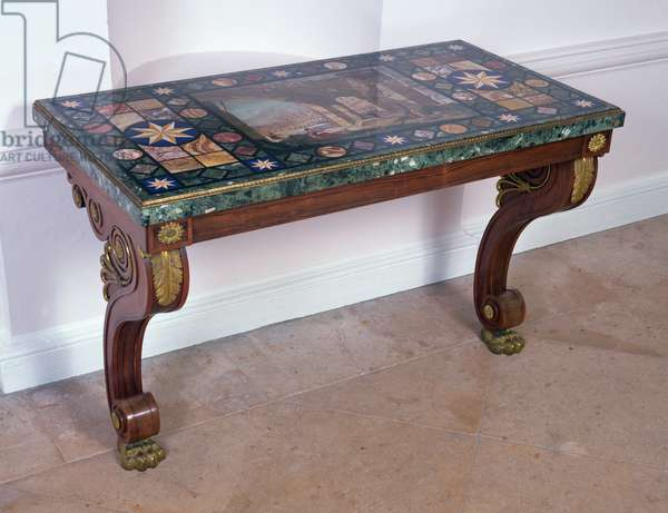 Table top depicting the Coliseum, after a design by Antonio Ciocci (fl.1722-92) (pietra dure) (see 316265 for pair)