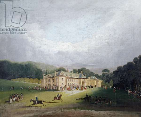 A Fete at Firle, where the ancient game of 'Quintain' was revived, 1827 (oil on canvas)