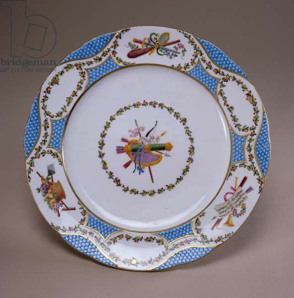 Sevres dessert service plate, from the Melbourne Service, 1770 (soft-paste porcelain)