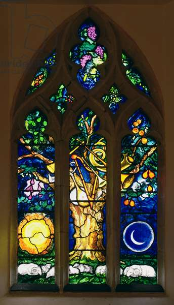 Window depicting 'The Tree of Life in Heavenly Jerusalem', installed 1986 (stained glass)