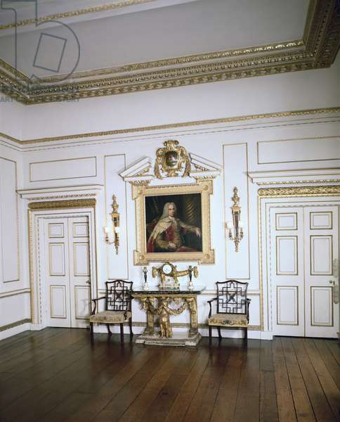 The Palladian Drawing Room, Firle Place, Sussex (photo)