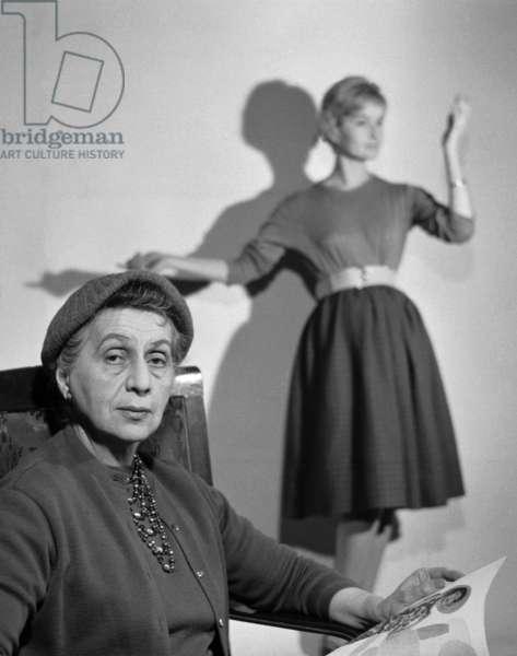 1957. Jadwiga Grabowska, fashion designer. Director of PP ' Polish Fashions'.