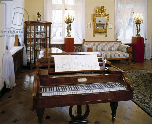 Warsaw, Chopin lounge on Krakowskie Przedmiescie street. fot;W.Krynski