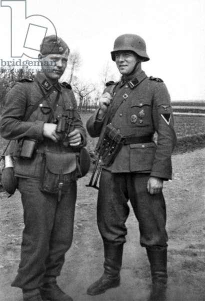 World War II. German SS soldiers.