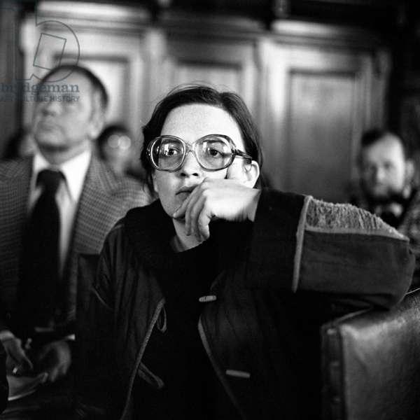Gdansk, 1979. 6th Polish Film Festival. Film director, Agnieszka Holland.