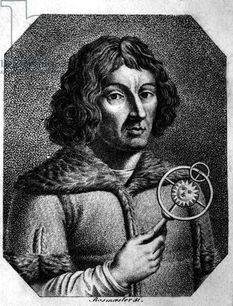 Frombork, 1973. Nicolaus Copernicus, (19.02.1473-24.05.1543), astronomer, mathematician, priest, discoverer of heliocentric cosmology theory.
