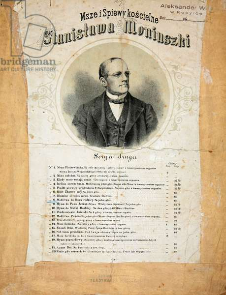 Stanislaw Moniuszko (05.05.1819 - 04.06.1872). The father of Polish national opera. Polish composer, conductor and teacher.