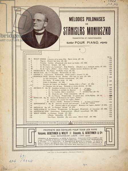 Stanislaw Moniuszko (05.05.1819- 04.06.1872). The father of Polish national opera. Polish composer, conductor and teacher.