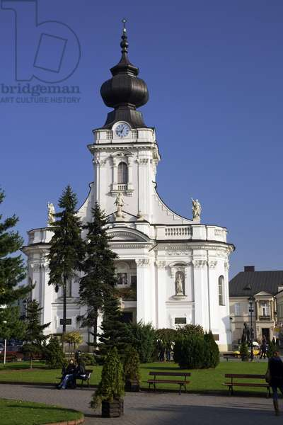 Wadowice, town in Souther Poland, 50km from Cracow, the birthplace of pope John Paul II. Virgin Mary's Offertory minor basilica Lesser Poland Province, 2002