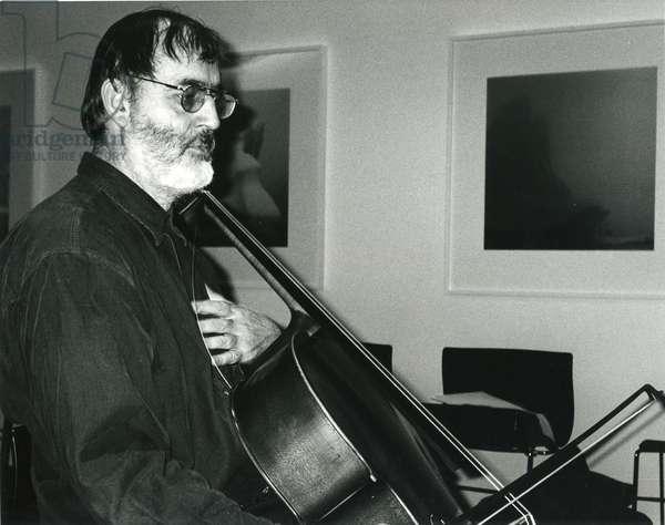 Helmut Lachenmann with 'cello