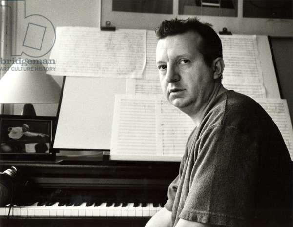 Mark-Anthony Turnage composing at