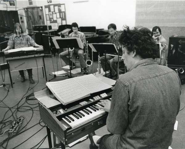 Philip Glass  rehearsing