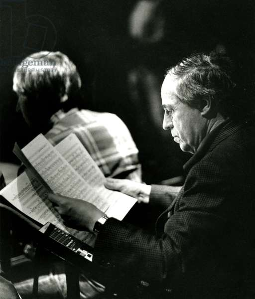 P Boulez studying score