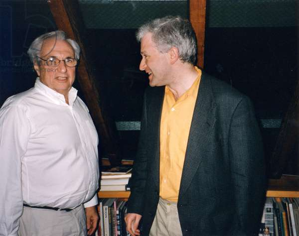 George Benjamin in Santa Monica with Frank Gehry (architect who designed the New L. A. Concert Hall) at Gehry's house, 13th Nov. 1998