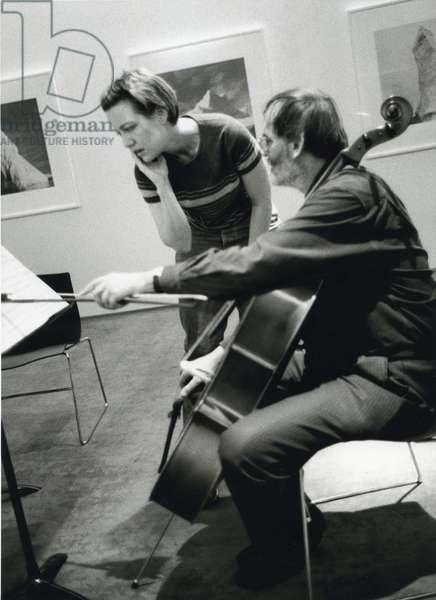 Helmut Lachenmann with cello