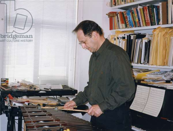 Steve Reich playing xylophone