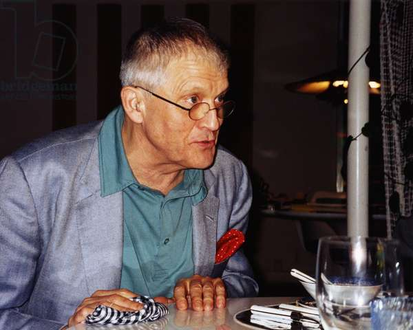 David Hockney, English artist (b.1937) at a dinner party in Beverly Hills, April 2005