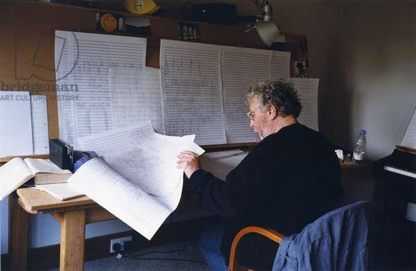 Harrison Birtwistle composing