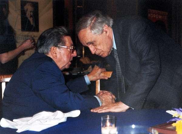 Henri Dutilleux (left) and