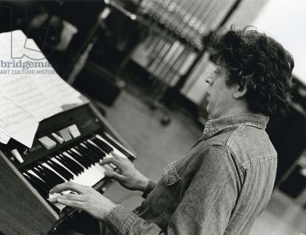 Phillip Glass at keyboard