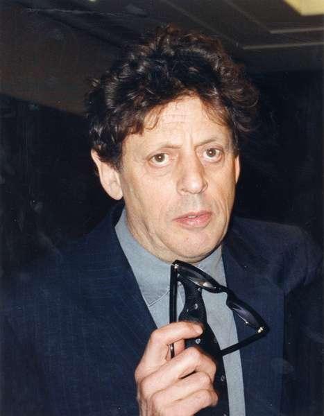 Phillip Glass portrait in