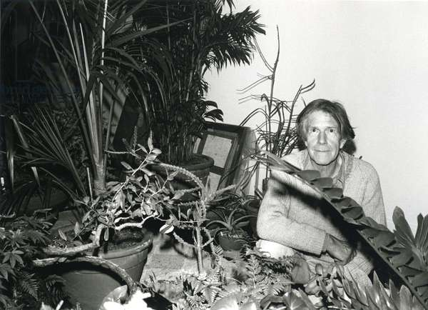 John Cage in apartment