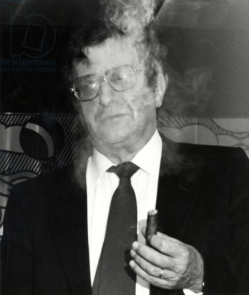 Luciano Berio with cigar