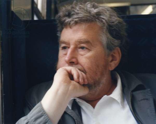Harrison Birtwistle on train