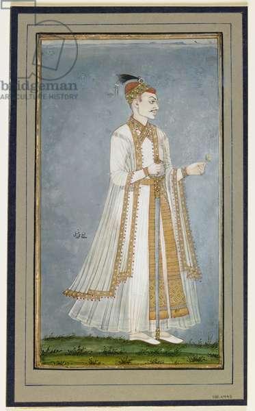 Muhammad-Quli Qutbshah, c.1900 (opaque w/c, ink, & gold on paper)