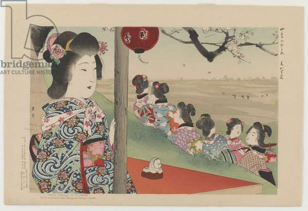 Spring Haze, from the series View of Four Seasons, 1906 (colour woodblock print)
