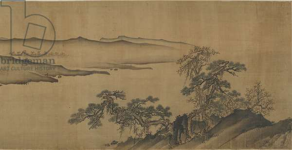 Hills Along a River, 16th-17th century (ink and colour on silk)
