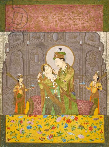 A prince and his consort, c.1790 (opaque watercolor on paper)